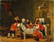 Convivial Scene in a Peasant's Cottage Pehr Hillestrom