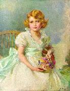 Princess Elizabeth of York, currently Queen Elizabeth II of the United Kingdom, painted when she was seven years ol Philip Alexius de Laszlo