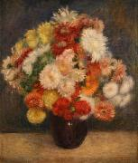 Bouquet of Chrysanthemums renoir