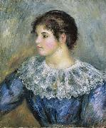 Bust Portrait of a Young Woman renoir