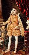 Portrait of infante Felipe (future Phillip IV) with dwarf Soplillo Rodrigo de Villandrando