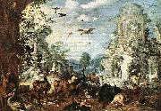 Landscape with Wild Beasts Roelant Savery