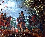 Polish cavalry marching in the wood Roelant Savery