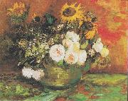 Bowl with Sunflowers Vincent Van Gogh