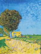 Avenue at Arles with houses Vincent Van Gogh