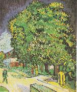 Blooming chestnut trees Vincent Van Gogh