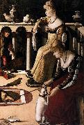 Two Venetian Ladies Vittore Carpaccio