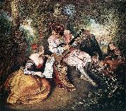 The Love Song WATTEAU, Antoine