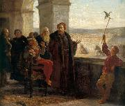 Sigismund the Old with Stanczyk at the Wawel Castle Wojciech Gerson