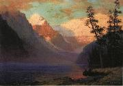 Evening Glow at Lake Louise, Rocky Mountains, Canada Albert Bierstadt