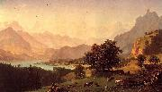 Bernese Alps, oil on canvas Albert Bierstadt