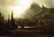 By_a_Mountain_Lake Albert Bierstadt