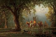 Departure of an Indian War Party Albert Bierstadt