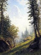Among the Bernese Alps Albert Bierstadt
