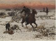 The hunters Alfred William Hunt,RWS