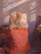 Mrs Ane Brndum in the blue room Anna Ancher