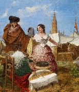 Courting at a Ring Shaped Pastry Stall at the Seville Fair Aragon jose Rafael