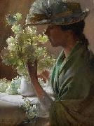 Lady with a Bouquet Charles Courtney Curran