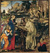 Apparition of the Virgin to St Bernard Filippino Lippi