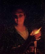 Young Girl with a Candle Godfried Schalcken