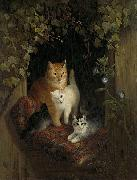 Cat with Kittens Henriette Ronner-Knip