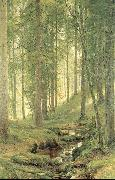Brook in a Forest Ivan Shishkin