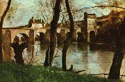 The Bridge at Mantes Jean-Baptiste-Camille Corot
