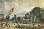 Das Waterloo-Fest in East Bergholt John Constable