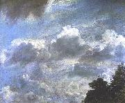Cloud Study, Hampstead; Tree at Right, Royal Academy of Arts, London John Constable