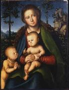 Madonna with Child with Young John the Baptist Lucas Cranach