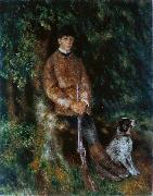 Portrait of Alfred Berard with His Dog renoir