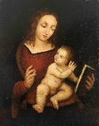 Reading Virgin Mary with the Child renoir