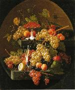 Fruit and Wine Glass Severin Roesen