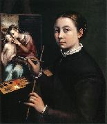 Self-portrait at the easel. Sofonisba Anguissola
