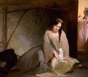 Cinderella at the Kitchen Fire Thomas Sully