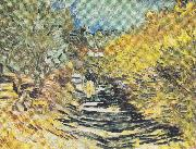 A Road at Saint Remy with Female Figure Vincent Van Gogh