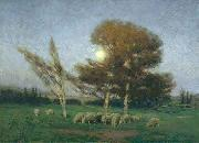 Early Moonrise in September William Bromley