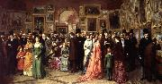 A Private View at the Royal Academy, 1881. William Powell Frith