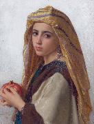 Girl with a pomegranate William-Adolphe Bouguereau