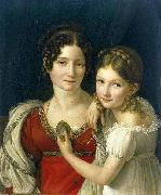 portrait of a mother and daughter riesener