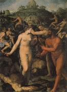 Hercules Crowned by the Muses ALLORI Alessandro