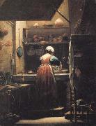 The Scullery Maid CRESPI, Giuseppe Maria