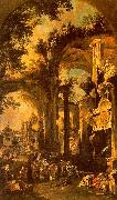 An Allegorical Painting the Tomb of Lord Somers Canaletto