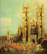 London- Westminster Abbey with a Procession of the Knights of the Bath Canaletto