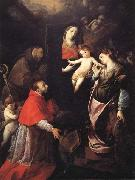 Madonna and Child with SS.Francis,Charles,and Catherine of Alexandria Cerano