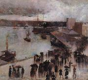 Departure of the SS Orient from Circular Quay Charles conder