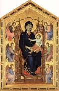 Madonna and Child Enthroned with Six Angels Duccio di Buoninsegna