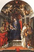 Madonna and Child Enthroned with SS.John the Baptist,Victor,Ber-nard,and Zenbius Filippino Lippi