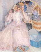 Lady Trying On a Hat Frieseke, Frederick Carl