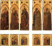 The Ognissanti Polyptych:SS.Catherine and Lucy,Stephen and Laurence,john the Baptist and Luke,Peter and Benedict,james the Greater and Gregory GIOVANNI DA MILANO
